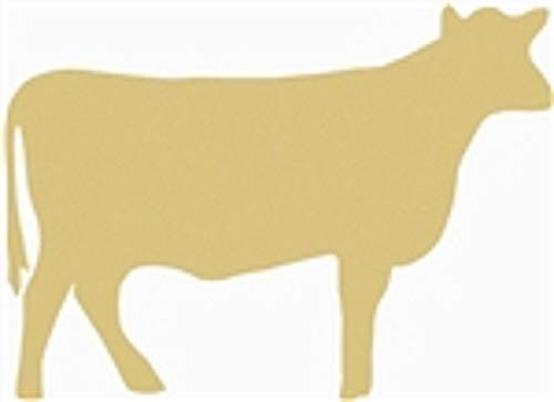 Cow Cutout Unfinished Wood Farm Livestock Ranch Western Door Hanger MDF Shape Canvas Style 1 (24