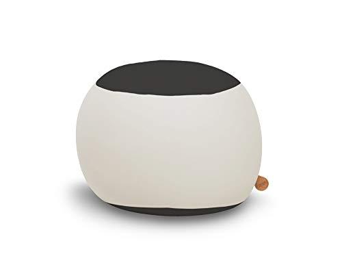 Terapy - Stanley Relax Indoor Sitzsack - Sitzkissen, 70x70x60cm in hellgrau/schwarz