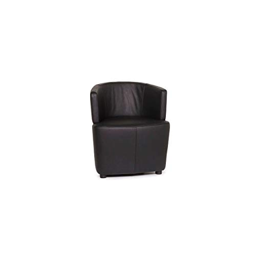 Walter Knoll leather armchair black