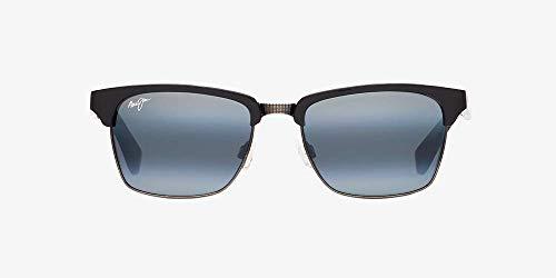 Maui Jim KAWIKA Unisex Polarized Sunglasses (Black Gloss with Antique Pewter Frame,...