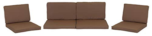 Lounge Premium Sitzkissen Kissenset für Monaco Rattan Gartengruppen Sand 8 Kissen 100{71338d5c0828fa4bdcfbfb91e1ecdedf7f7a2266cc2e23237d66a3dce39ca8be} Polyester wasserabweisend mit Reissverschlüssen Bezug abnehmbar