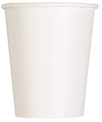 Unique Party Pappbecher,weiß, 270 ml,14er Packung