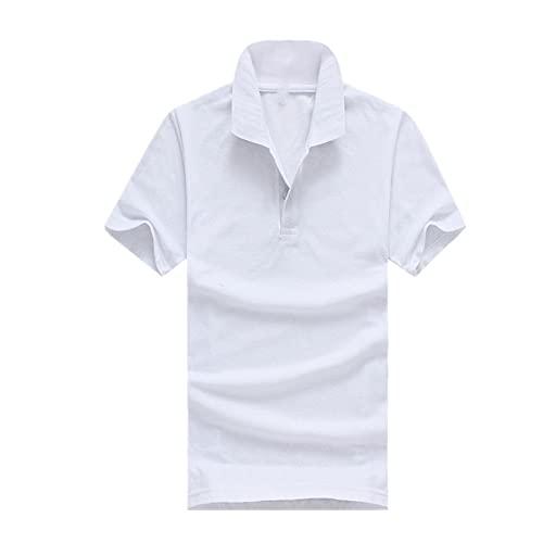 N\P Camisa Hombres Manga Corta para Mujer Azul Negro Blanco Color Sólido
