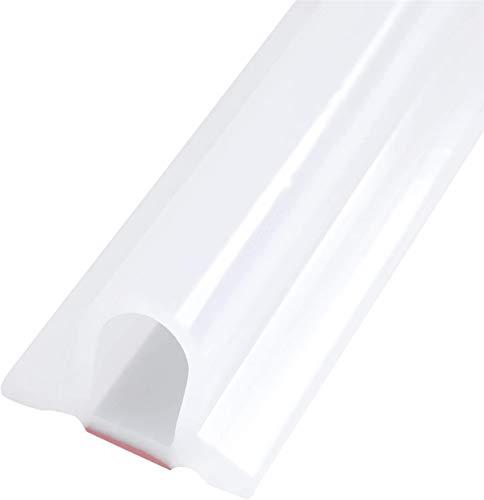 Zusammenklappbarer Duschschwellen-Wasserdamm, ideal für rollstuhlgerechte, barrierefreie Duschen, Dusche Bad Boden Dichtung Wasserdamm Duschschwelle Barriere-Wasserstopper (100 CM,Transparent)