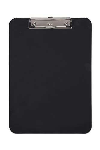 Maul 2340590 Schreibplatte, Kunststoff mit Bügelklemme, Klemmbrett A4 hoch, Aufhangöse, schwarz