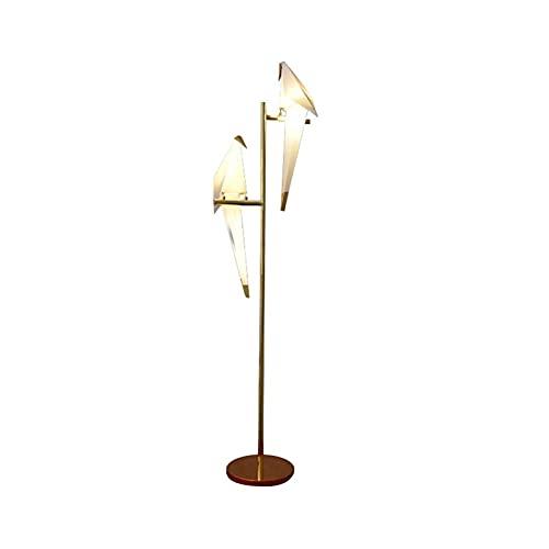 Luces Decorativas Nórdico Lámpara de pie de hierro forjado Minimalista Mil Papel Crane Bird Dormitorio Luz industrial jardín Sala de estar Lámpara de planta Lámparas (tamaño : B)