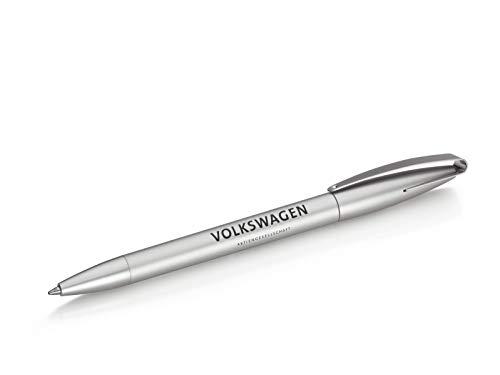 Volkswagen Kugelschreiber Kunststoff, Silber, Schriftzug,