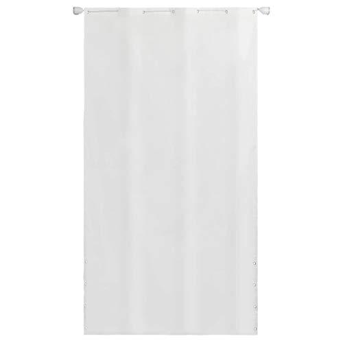 vidaXL Senkrechtmarkise Sichtschutz Seitenmarkise Sonnenschutz Oxford-Gewebe 140×240 cm Weiß