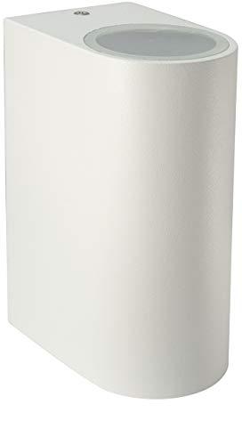 Long Life Lamp Company ZLC055W Applique murale d'extérieur moderne en acier inoxydable Blanc
