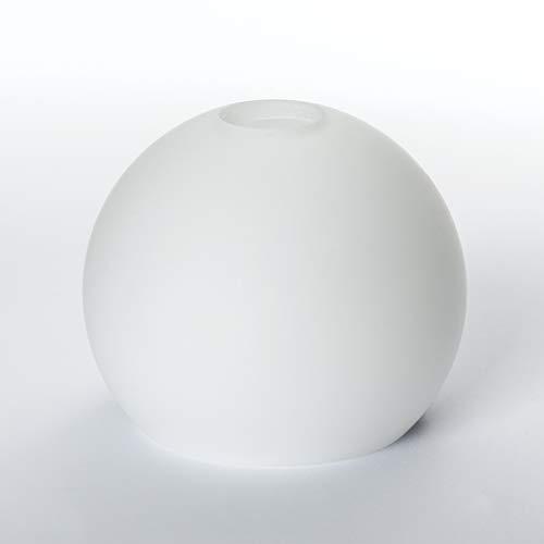 Glas Lampenschirm Ersatzglas halb Kugel weiß G9 Lochmaß Fassung ø 23 mm opal matt Leuchtenglas Halbkugel
