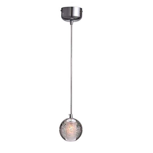 LED Modern K9 Kristall Kugel Pendelleuchte Kreative Deckenleuchte Lüster hochwertigem Innenbeleuchtung Dekoration Hängelampe Φ10cm H100cm Höhenverstellbar 1*G4 Warmweiß 3000K