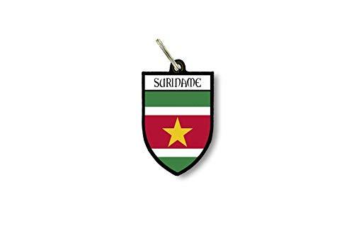Sleutelhanger Sleutelhanger Ring Vlag Nationale Souvenir Schild Suriname