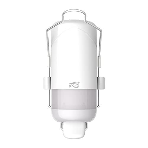 Tork tvåldispenser med spak för flytande tvål och antibakteriell handtvål, Elevation - 560101 - Hygieniskt S1-dispensersystem, vit