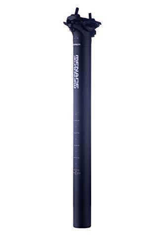 Sixpack Menace Fahrrad Sattelstütze 350mm x 27.2mm / 31.6mm schwarz: Größe: 27.2mm
