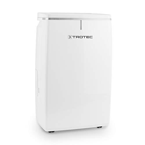 TROTEC Deshumidificador TTK 72 E, 24 L/24h, Indicador LED, Depósito 5,5 L, para Habitaciones de hasta: 50 m²/125 m³, Compacto, Blanco, Secado de Ropa, Hogar