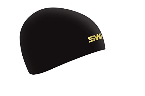 SWANS(スワンズ) スイムキャップ 水泳 競泳用 シリコーンキャップ ドーム型 Fina承認モデル ブラック SA-10S