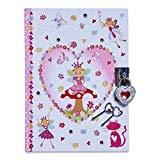 Lucy Locket Diario Infantil con diseño de Hadas encantadas Diario con candado y Llaves