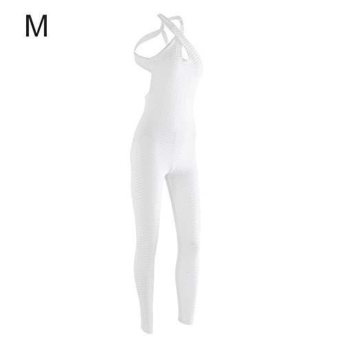 Zerone Frauen Yoga Einteiler Sleeveless Scoop Overall Sport Fitness Overall Bodysuit Patchwork Langen Overall(M)