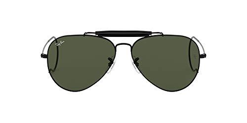 Ray-Ban unisex adult Rb3030 Outdoorsman I Sunglasses, Black/Green, 58 mm US