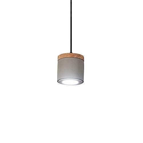DLGGO Creative Loft - Lámpara Colgante de Roble, Vintage Industrial, 4.7