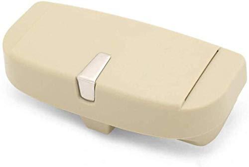 ZYTZK Para gafas de coche para BMW E30, E34, E36, E39, E46, E53, E70, E60, E87, E90, E91, E92, Auto Accessoriesxpress Caja de almacenamiento de gafas de coche, estuche para gafas de sol, color beige