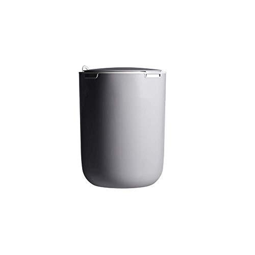 9L Trash Can Rhythm Press Mülltonne Müllsack Container Küche Badezimmer Abfalleimer Aufbewahrungsbox Schrank hängend Dosen Müll Organizer Tools Bento Lunch Box for Kinder (Farbe: weiß) 1yess