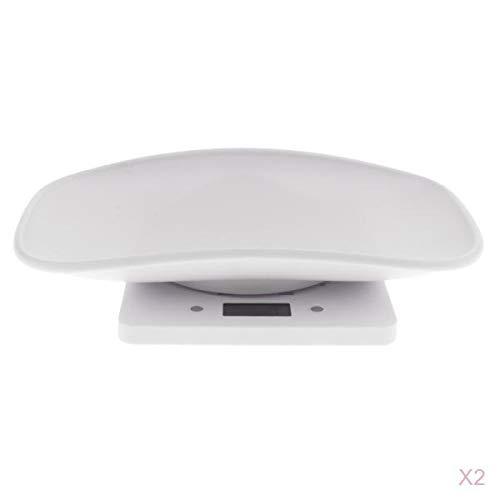 joyMerit 2X Bilancia Pesapersone Digitale per Misurare con Precisione Il Peso di Neonati/Bambini, capacità di 10 kg