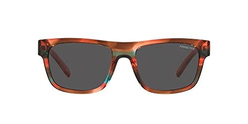 ARNETTE An4279 Post Malone Collection - Gafas de sol rectangulares para hombre, Coral/Gris Oscuro,