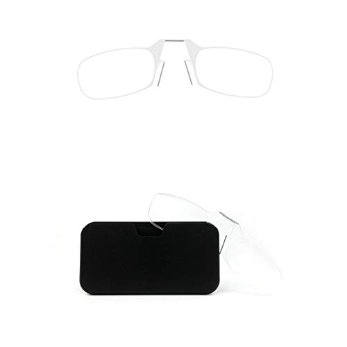 Blue Light Blocking Leesbril Style Clamp Neus Resting Knijpen Reading Glasse Ongewapende Compact Glazen For Mannen En Vrouwen (Color : Transparent, Size : 100°)