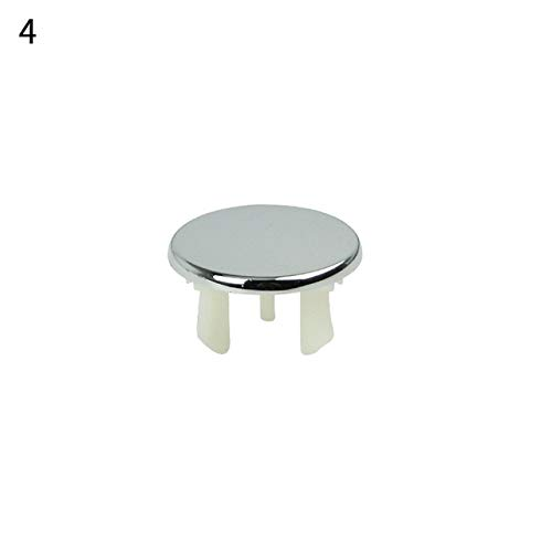 RAQ 1 stks wastafel overloop ring zes-voet ronde invoegen chroom gat 4