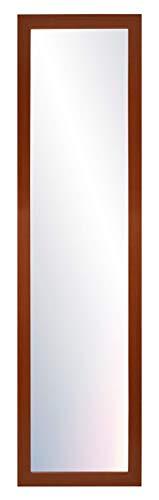 Chely Intermarket, Espejo de Pared Cuerpo Entero 35x140cm(Marco Exterior 42x147cm) MOD-128 (Marrón) Forma Rectangular | Decoración de salón, recibidor, Dormitorio | Acabado Elegante (128-35x140-6,15)