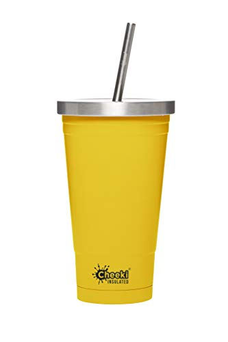 CHEEKI Stainless Steel Insulated Tumbler, 500 ml Capacity, Lemon, Yellow