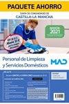Paquete Ahorro Personal de Limpieza y Servicios Domésticos de la Junta de Comunidades de Castilla-La Mancha. Ahorra 33 € (incluye Temario y test; Simulacros de examen y acceso gratis a Curso Oro)
