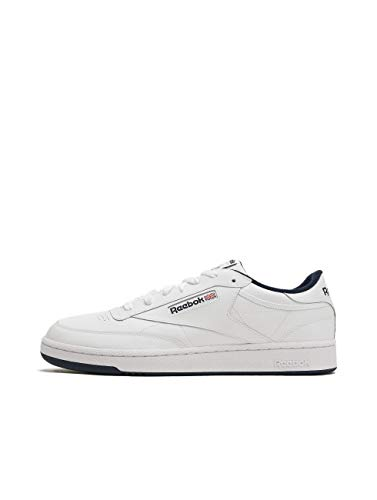 Reebok Herren Club C 85 Sneakers, Weiß (Intense White / Navy), 44.5 EU