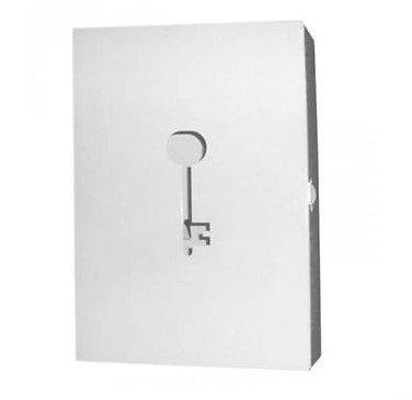 """Ikea Schlüsselkasten """"Prunka"""" Schlüsselbox aus lackiertem Stahl - Weiß"""