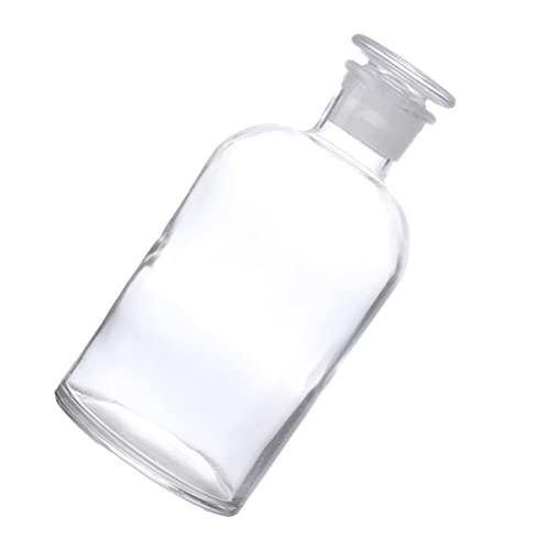 Scicalife Botella de Reactivo de Laboratorio 125Ml Botella de Vidrio Transparente para Farmacia con Tapón de Vidrio Botellas de Medicina Líquida de Sellado para Productos Químicos de