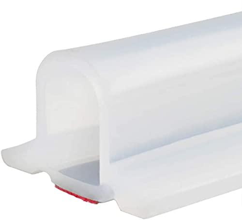 Tira impermeable de silicona flexible 39 inch umbral de ducha, tapón de agua de presa de agua, sello de piso del baño, parada de flujo de agua para separación húmeda y seca A,78in