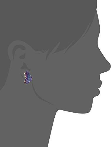 Betsey Johnson Purple Butterfly Stud Earrings