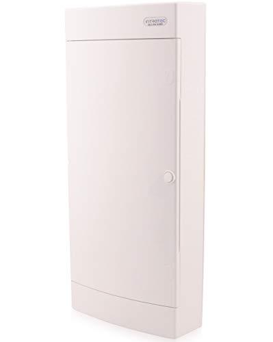 Zekeringkast opbouw IP40 verdeler behuizing 4-rijen tot 48 modules witte deur voor droogkamer installatie in huis
