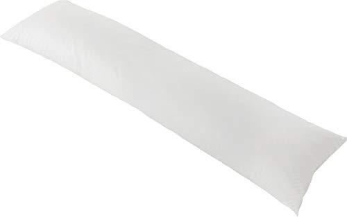 HEFEL Kissen für Seitenschläfer Beschichtung, 100% Baumwolle, Weiß, 35x 160x 0.3cm