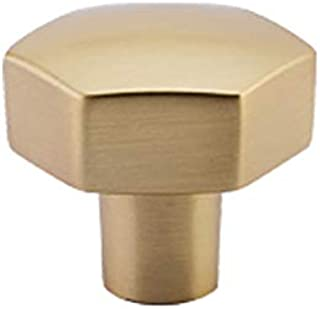 Emtek 86457 Mod Hex Cabinet Knob Satin Brass (1-1/8