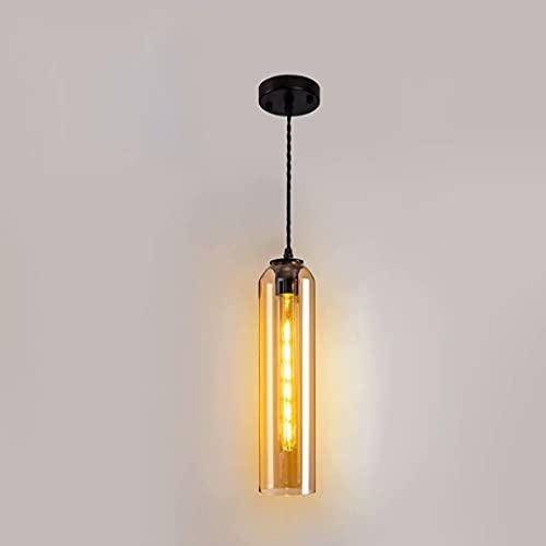 Lámpara colgante de techo de mesita de noche de vidrio,iluminación de suspensión colgante con pantalla de luz suave,accesorios de araña de alambre trenzado trenzado ajustable,3.9*15.7 pulgadas