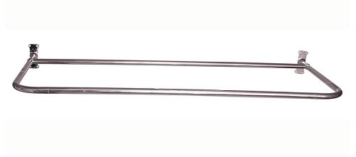 """Price comparison product image Barclay 4145-60-PN 60 x 26"""" D"""" Shower Rod,  With Flanges"""