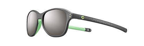 Julbo Kinder BOOMERANG Sonnenbrille, Schwarz transparent/Grün, FR : XXS (Taille Fabricant : 4-6 ans)