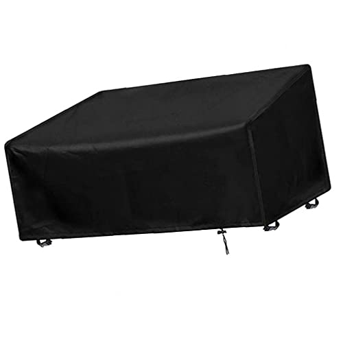 Yililay Patio Chair Cover Waterproof Outdoor Garden Bench Furniture Cover 63x66x134CM Black