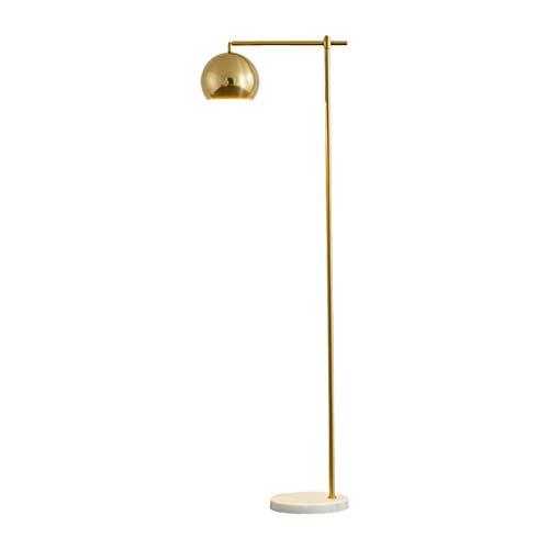 Lampes de chevet Lampadaire Nordic Romantique Lampadaire en Métal Salon Chaud De Mode Chambre Canapé Lampadaire Lampadaire en Marbre Lampadaire Simple Moderne (Color : Gold, Size : 55 * 160cm)