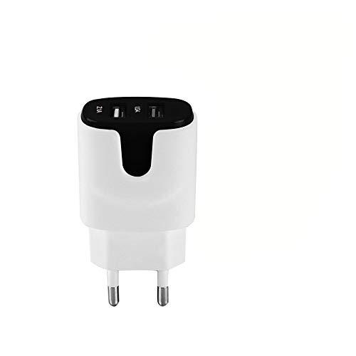 Shot Case Adaptador de alimentación USB a Color para Samsung Galaxy Note 10 Tablet, Doble Toma de Pared, 2 Puertos, Corriente AC Cargador B (Negro)