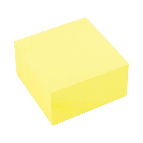 D.RECT 009326 Haftnotizwürfel Super Sticky Notes Selbstklebende Haftnotizzettel in 76x76mm 400 Blatt Gelb
