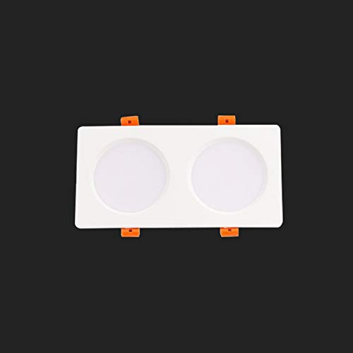 GLBS 18W/24W/30W/36W Blanco Doble Cabeza De Techo Luz De Techo Dormitorio Dormitorio Sala De Estar Pórchido Empotrado Iluminación Aluminio Inicio Negocio LED Downlight