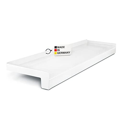 TJ Fensterbank Außen Aluminium Weiß/Ausladung 70mm / versch. Längen/Alu Fensterbank Außen/Fensterbrett Außen Made in Germany